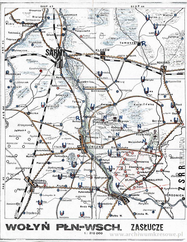 Mapa Polskiej Samoobrony Rejonu Moczulanka Stara Huta Na Wolyniu