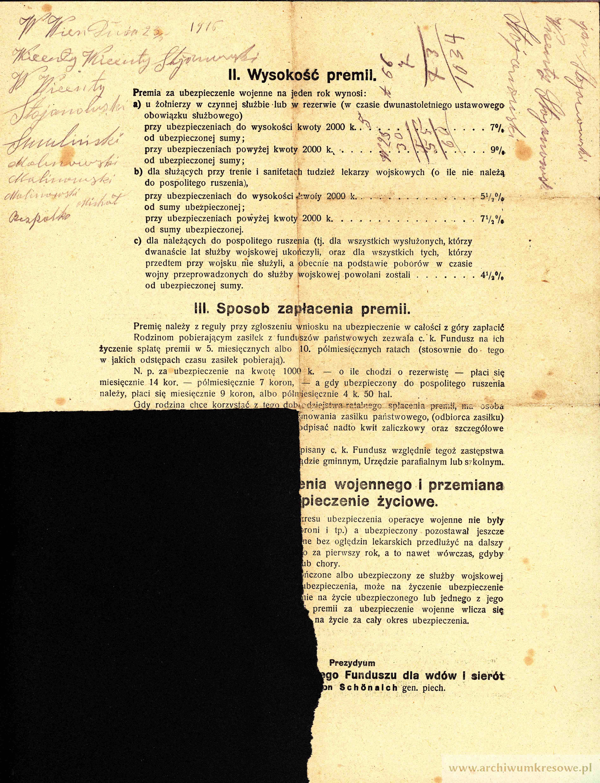 1916 05 23 2 Stojanowski Wincenty Syn Franciszka Kliknij W Obraz